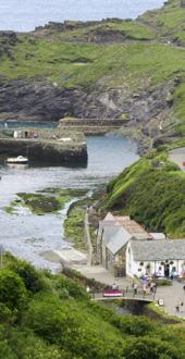 Boscastle, harbour
