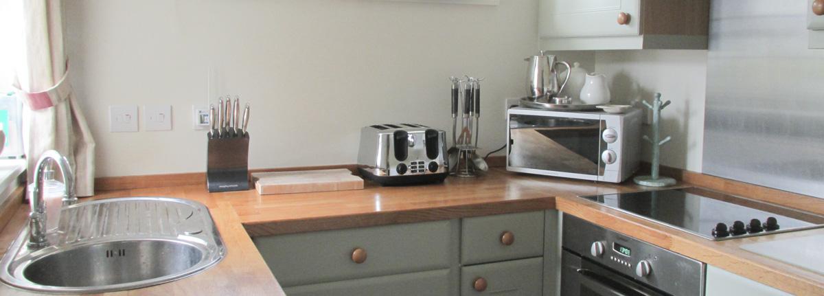 Kitchen, Melbourne Cottage, self catering cottage