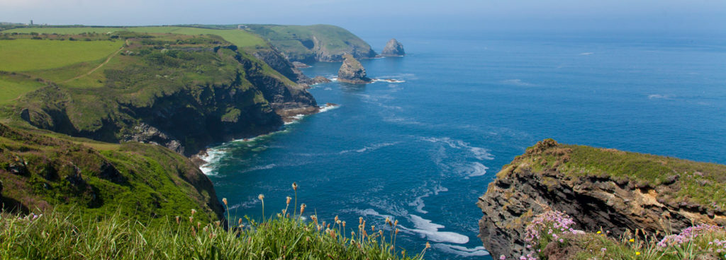 View from the Boscastle Coastwatch Station, enquire about booking a stay at Melbourne Cottage